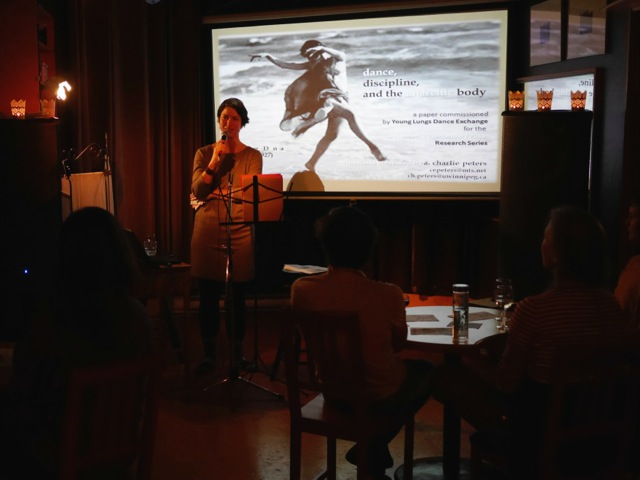 Co-founder Natasha Torres-Garner introduces a. charlie peters.